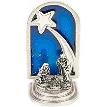 3c56a210909 Eurofusioni Pesebre pequeño de Plata chapeada con Estrella - Adorno navideño