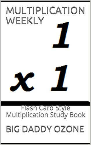MULTIPLICATION WEEKLY: Flash Card Style Multiplication Study Book ...