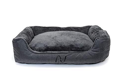 Happilax letto per cani taglia grande, lavabile con cuscini sfoderabili e bordi rialzati da interno ed esterno