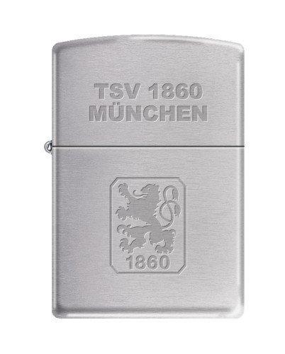Zippo 2.003.196 Feuerzeug TSV 1860 München Offizielles Lizenz, Chrom Brushed (Zippo-feuerzeug Aus Metall)