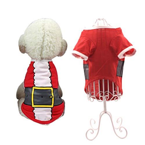 Rollenspiele Bett Kostüm Im - XIAOPANG Haustier Weihnachten Kostüme Katze Hund Weihnachten T-Shirt Herbst Winter Baumwolle Weste Katze Kleidung,M