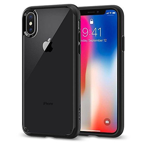Cover iphone x, cover iphone 10, spigen® [ultra hybrid] custodia iphone x con tecnologia air cushion e protezione da goccia ibrida per apple iphone x (2017) - matte black - 057cs22129