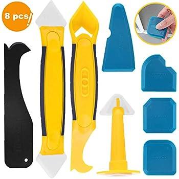 Outils de calfeutrage en silicone 8pcs set lisseur - Comment enlever joint silicone salle de bain ...