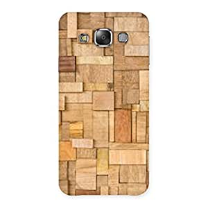 Neo World Wooden Pattern Back Case Cover for Galaxy E7