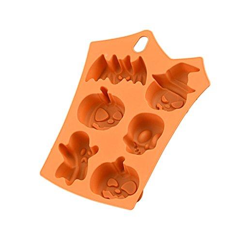 chokoladenform Silikonform Eiswürfelform Süßigkeiten Formen Silikon Backformen für Party (Halloween-süßigkeiten Formen)