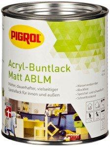 PIGROL Acryl-Buntlack ABLM - matt - 2,5 Ltr. (reinweiß (RAL 9010))