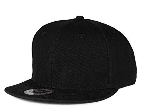 New Unisex Jungen Mädchen Mütze TWO TONE SNAPBACK Baseball Cap Hut Kinder Kappe MFAZ Morefaz Ltd (Black) (Snapback Hut Lakers)