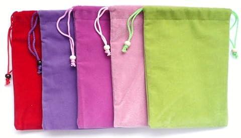 Emartbuy® Nook GlowLight Plus eReader 6 Pouce Bundle Pack De 5 Premium Velour Micro Fibre Autonettoyant Socks Case Cover Etui Coque - Red, Pourpre, Baby Rose, Hot Rose Et