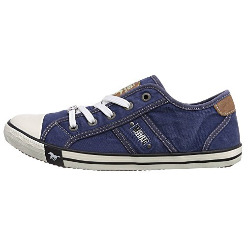Mustang Shoes  Mustang Shoes - Mustang Ladies Trainers Farbe 1099-302-841 Denim Blue - Mustang-1099-1-blu-, Damen Sneaker Blau