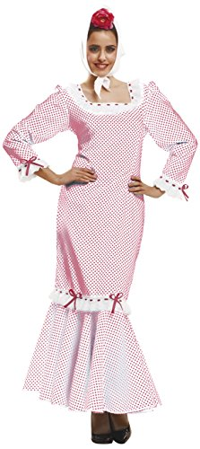 Imagen de my other me  disfraz de madrileña/chulapa para mujer, talla xl, color blanco viving costumes mom02328