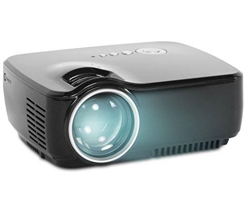 Goclever CINEO Focus Crenova LCD Beamer Mini Projektor 1200 Lumen 800 x 600 Auflösung Kontrast: 600:1 Bildgröße bis zu 508 cm (200 Zoll) schwarz