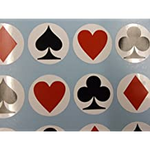 Playing Card Suit Stickers - Use As Envelope and Present Seals