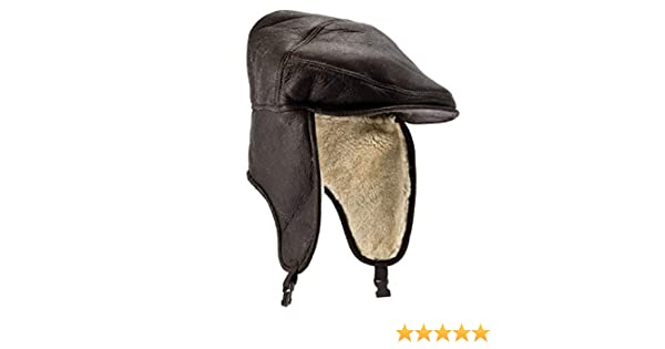 ded17b87a93 Eastern Counties Leather Mens Newton Sheepskin Nappa Finish Cap   Amazon.co.uk  Clothing