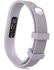 MoKo Fitbit Flex 2 Armband - Weich Sportarmband Sport Band Uhrenarmband Uhr Erstatzband mit Stiftschließe aus Edelstahl für Fitbit Flex 2 Smart Fitness Watch, Armbandlänge 128mm-180mm, Lavendel, S