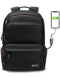 6a920bbb25 Zaino per laptop Business tomtoc, Zaino per computer da viaggio TSA  Friendly con porta di ricarica USB (PowerPortal)…