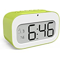 DIKETE® Sveglia Digitale Table Alarm Clock LCD Digital Osservare retroilluminazione del sensore Smart Light snooze di ripetizione Camera sensore di temperatura del modulo di orologi per bambini Cucina Comodino Viaggi
