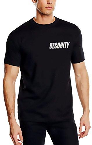 SECURITY - T-Shirt - reflektierende, nachleuchtende Folie schwarz Gr.5XL