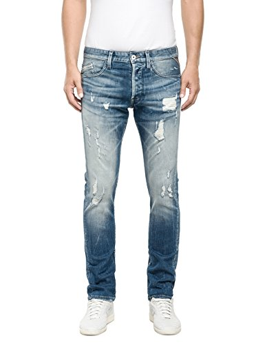 Replay - Waitom, Pantaloni Uomo, Blu (Blue Denim 749-10), W32/L34