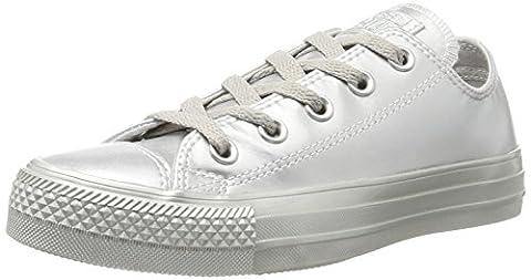 Converse Unisex-Erwachsene Chuck Taylor All Star Sneaker, Silber (Silver/Silver/Silver), 38 EU (Chuck Taylor Metallic Lo Top)