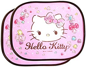 Faltbare Paar Auto Seitenfenster Sonnenblende Auto Statische Cling Sonnenschutz Beschützer Einfacher Gebrauch,Hello Kitty Pink