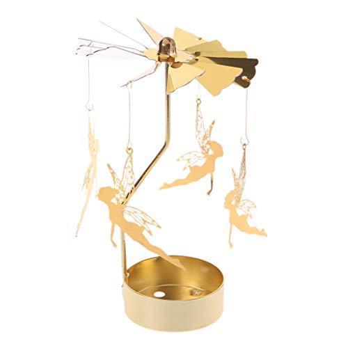Wondful - Soporte para Velas de té, diseño de carrusel, Hierro, diseño...