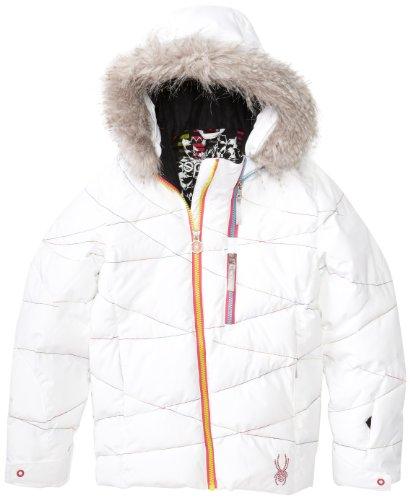Spyder Girl 's Hottie Jacke, Mädchen, White/Multicolor (Spyder Ski-jacke Für Mädchen)