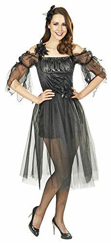 Fairy Elfen Kostüm - Black Fairy Fee Kostüm für Damen Gr. 40 42 - Zauberhafte Märchen Fee Elfe für Karneval oder Theaterauftritt