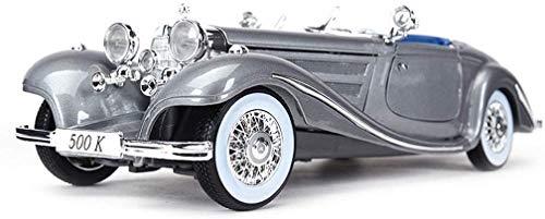 TOY Spielzeugauto, Autoliebhaber, Kindergeschenke, Sammlung, Dekoration, Lernspielzeug, Modellauto 1:18 Racing - Mercedes - Mercedes 500K Automodell Legierung Simulation Automodell Original Sammlung