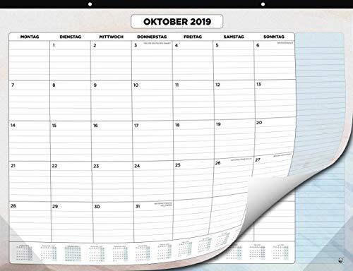 Kalendar 2019 2020 von SmartPanda - Wandkalender 2019-2020 - Monatskalender für den Tisch Von Juli 2019 bis Dezember 2020 - Ein Monat zur Ansicht - 33 cm x 43 cm - auf Deutsch