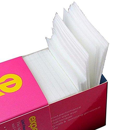 Asien 325 uds almohadilla de algodón toallita de u?as Nail Art gel removedor polaco