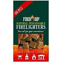 Fire up Allume-feu Naturel Durable Lot de 60 Pack of 60 Naturel
