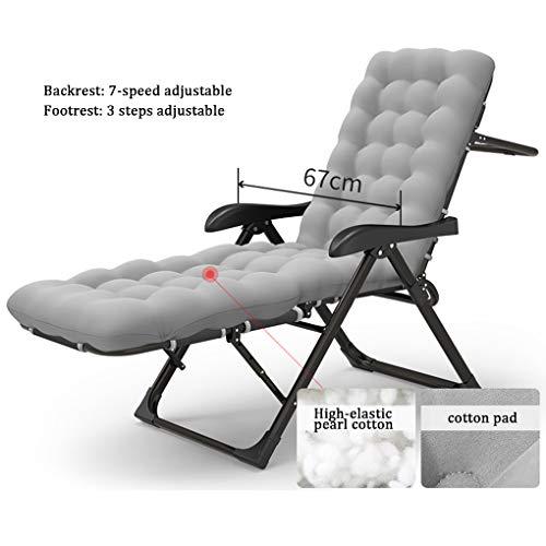 Deck-kissen-lagerung (MMZZ Deckchairs Outdoor Lounge Patio Stühle, Schwerelosigkeit Stuhl, verstellbare Klappliege, ergonomisches Design mit Kissen, für Deck, Terrasse, Strand, Hof)