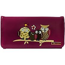 b3908b2ed7d89 Kukubird Owl Family Tree Pattern Plus Size Frauen Geldbörse Clutch
