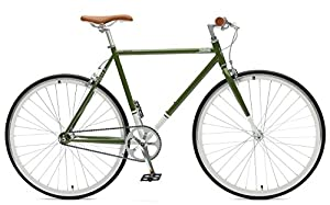 Critical Cycles Harper Single-Speed Fixed-Gear Urban Commuter Bike, Salbei...