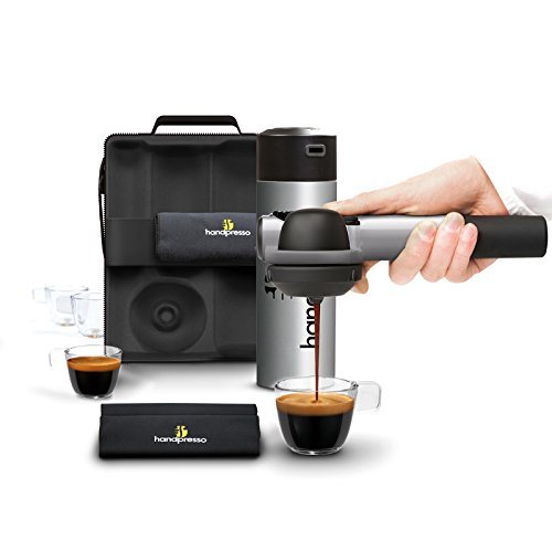 Handpresso 48302 Coffret Pump Set machine à expresso portable dosette E.S.E. ou café moulu Argent