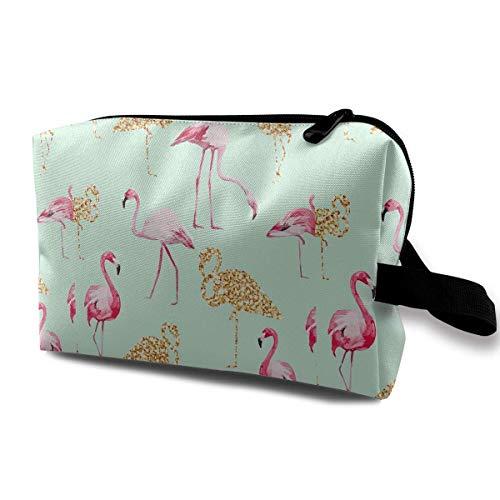 Reisen Make-up Kosmetiktasche Pinsel Tasche Flamingos Muster Reißverschluss Stift Veranstalter Tragetasche Make-up Tasche Flamingo-muster