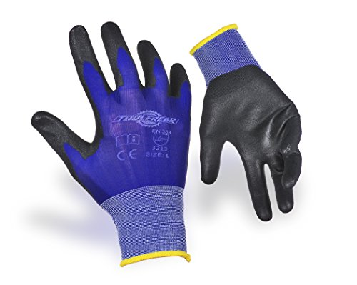 10-pack-of-toolfreak-safety-gloves-blue-ultra-lite-thin-pu-grip-sizes-8910-size-9-large