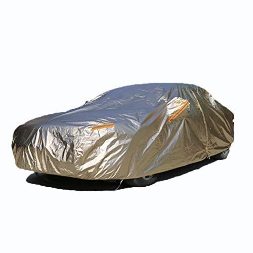 DOSNVG Limousine Autoplanen wasserdicht für den Außenbereich, Upgrade Regen Sonne UV Winddicht Staubdicht Kratzfest Protector Universal Full Size Car Cover - Gold, M