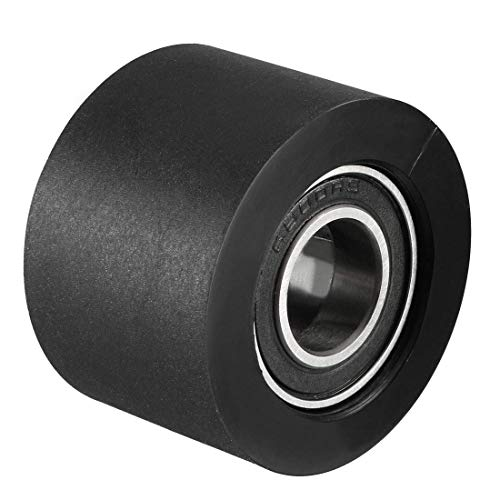 ZCHXD 10x30x20mm Roller Idler Bearing Pulley Sliding Conveyor Wheel Black - Conveyor Roller Bearing