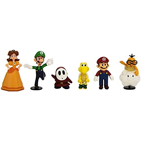 Abysse Corp. MFGNIN3 Pack 6 Figuras de Super Mario