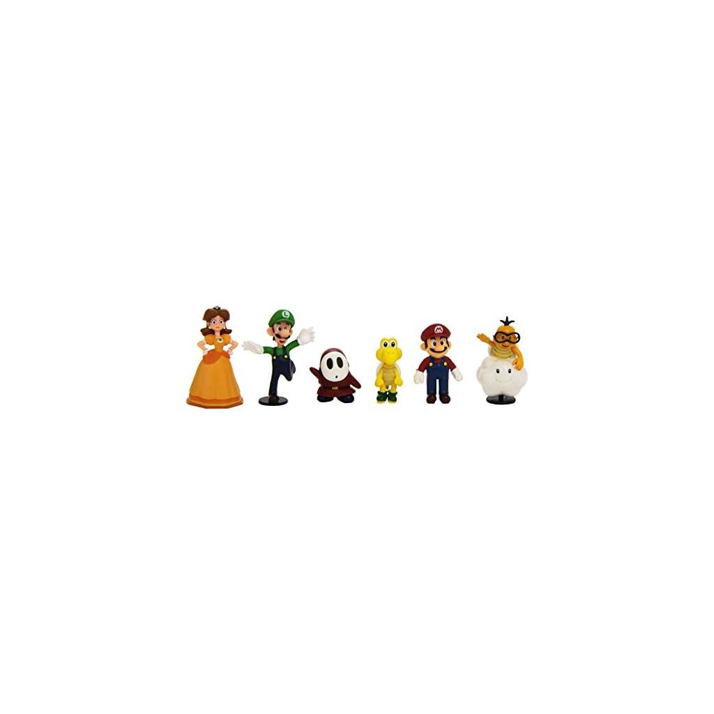 Abysse Corp. MFGNIN3 Pack 6 Figuras de Super Mario 6