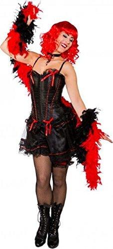 Fancy Me Damen Sexy Schwarz Mädchen Saloon Burlesque Tänzerin Western Hen Night Party Kostüm Outfit - Schwarz, UK 8-10