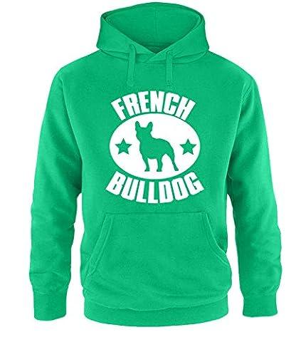 Luckja French Bulldog Herren Hoodie Hellgrün-Weiss Grösse