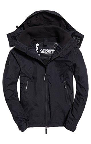 Superdry Herren Sportjacke Hoodedarcticcliffhiker, Schwarz Black 16a, XX-Large (Herstellergröße: 2XL)