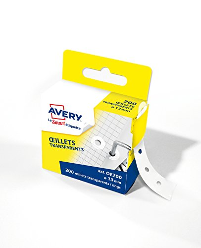 AVERY - Boite distributrice de 200œillets autocollants, Diamètre 13 mm,