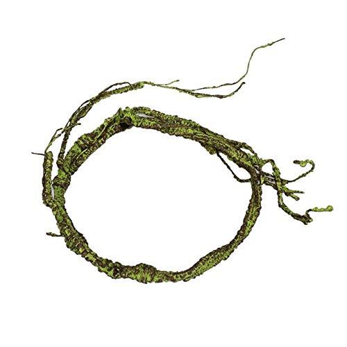 Aeromdale Reptilienbaum-Rebe,PU Reptilien Jungle Vines Terrarium Flexible Pet Habitat Decor Reptilien Box Reben für Echsen Frösche Schlangen Andere Reptilien Geschenk für Haustiere (Terrarium Reben)