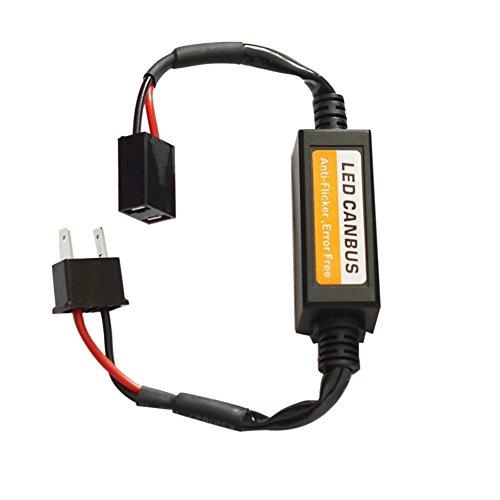 Preisvergleich Produktbild 9-36V H7 LED Decoder Anti Flicker Auto Scheinwerfer Adapter Fehlerfrei Canceller (Farbe: schwarz)
