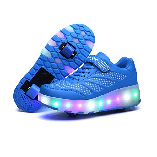 Viken Azer-UK ❤❤❤Laufschuhe Sportschuhe Kinder Skateboard Schuhe Kinderschuhe mit Rollen LED Skate Schuhe Trainer Sneakers Rollen Schuhe für Junge Mädchen❤❤❤