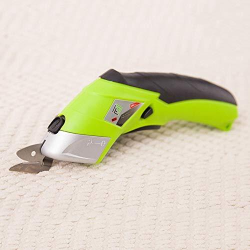 Tijeras eléctricas inalámbricas para artesanía de cartón piel alfombra plantas de maceta batería de ion de litio tijeras cortador con 2 cuchillas de corte cargador, cabezal de tijera