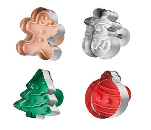 Küchenprofi 0815012804 Ausstecher X-Mas, 4-er Set Christmas Cookie Cutter